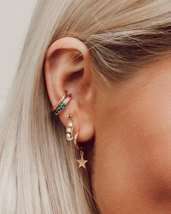 Orelia Rainbow Ear Cuff