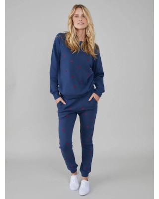 South Parade Mini Hearts Navy Sweatpant