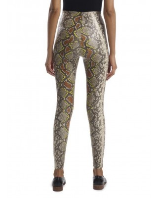 Faux Leather Animal Legging with Perfect Control