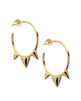 Spiked Gold Hoops