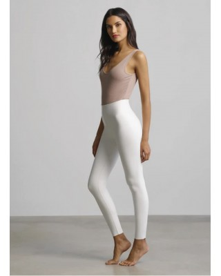 White Faux Leather Legging with Perfect Control