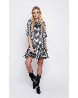 ARRI Demi Drop Waist Dress in Black Star