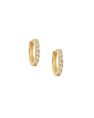Atelier 18 Midi Zircon Studded Hoops 12.5mm